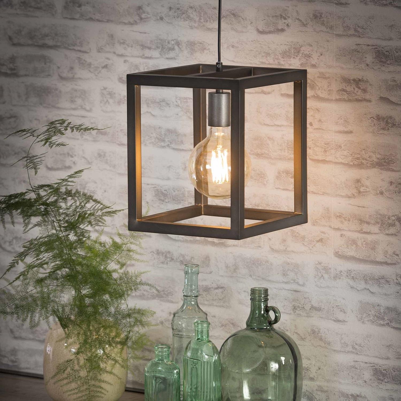 Hanglamp Terrance 1L 25x25cm breed – Zilver | Zaloni