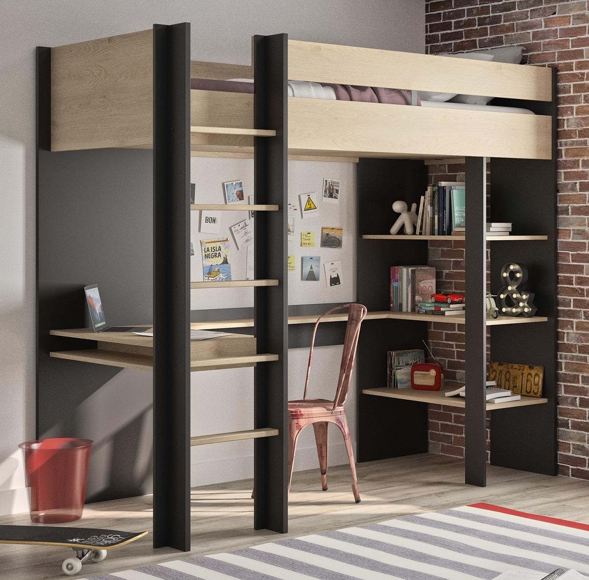 Hoogslaper Duplex 192 cm hoog in Naturel kastanje met zwart | Gamillo Furniture