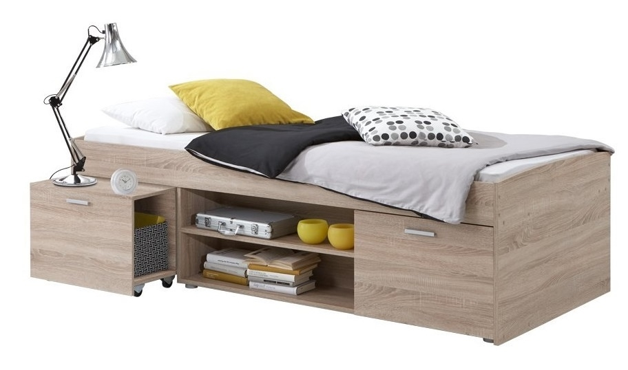 Kajuitbed Carlo 90x200cm – Eiken | FD Furniture