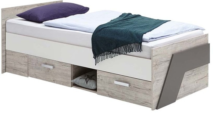 Kajuitbed Nona 90x200cm in zand eiken | FD Furniture