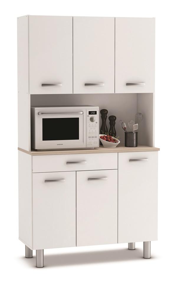Keukenkast Pasta 185 cm hoog – Wit | Young Furniture