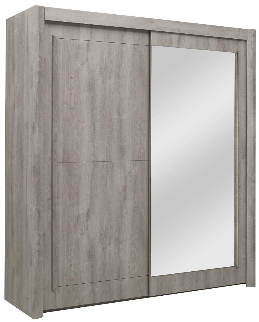 Kledingkast Eden 201 cm breed in grijs eiken | Gamillo Furniture