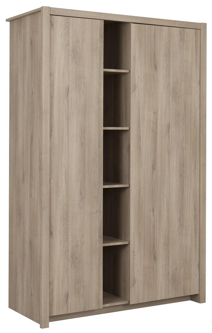 Kledingkast Ethan 131 cm breed in kronberg eiken | Gamillo Furniture