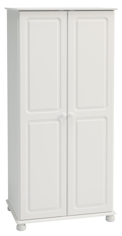 Kledingkast Rich B 185 cm hoog in wit   DS Style