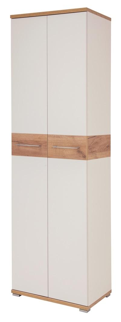 Kledingkast Topix 199 cm hoog – Wit met Navarra eiken | Germania