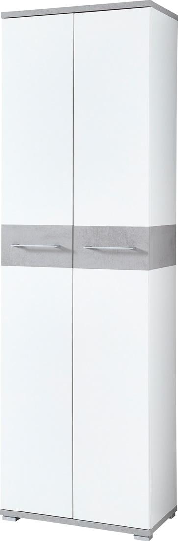Kledingkast Topix 199 cm hoog – Wit met grijs beton | Germania