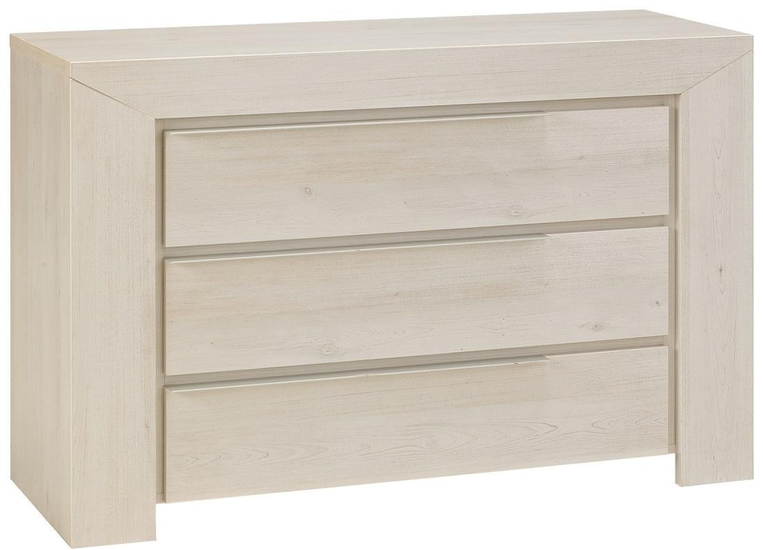 Ladekast Sarlat 80 cm hoog in gekalkte kersenhout | Gamillo Furniture