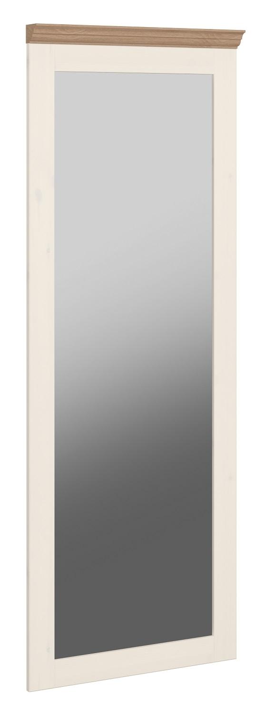 Passpiegel Monaco 144 cm hoog in wit whitewash met steen | DS Style