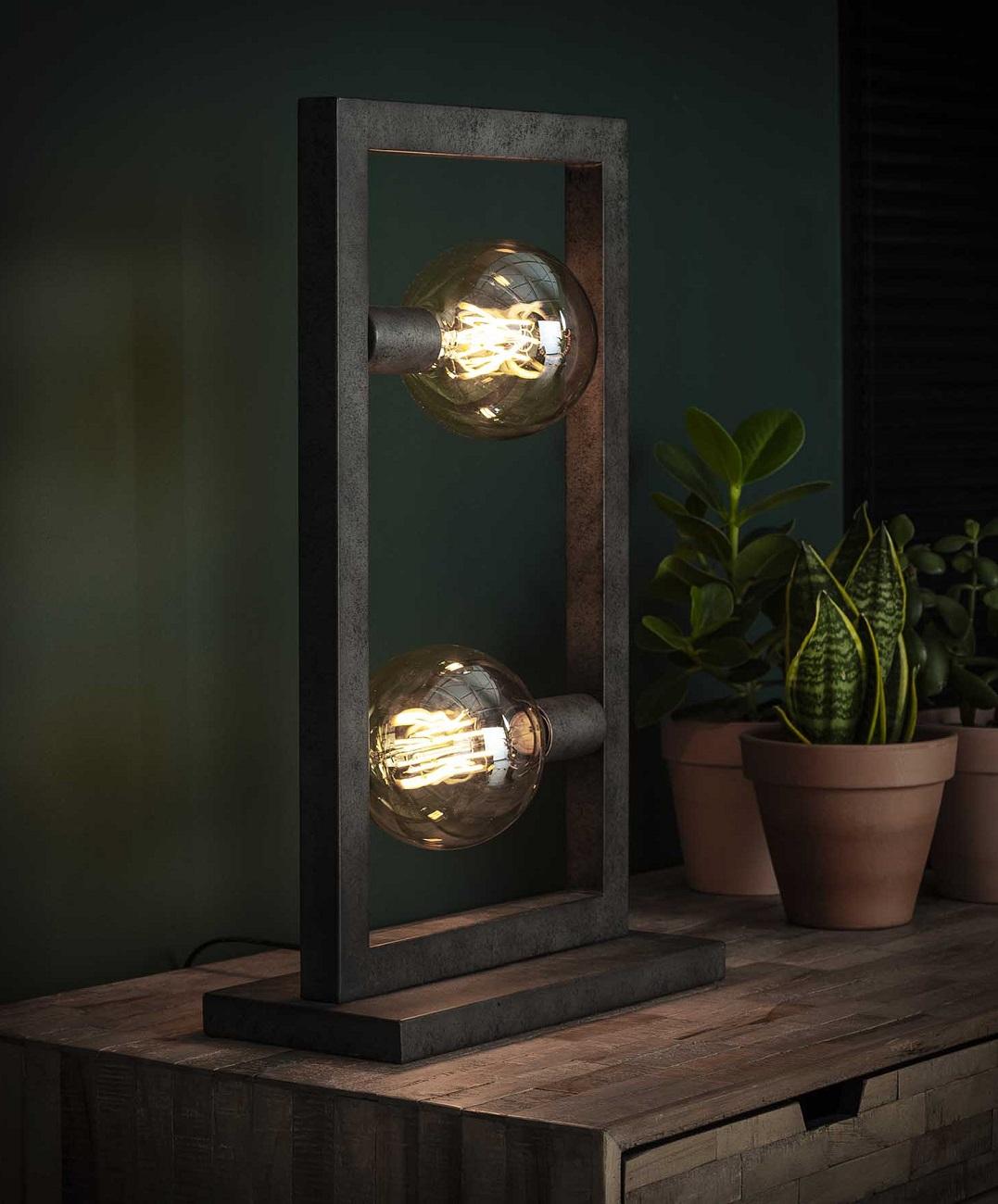 Tafellamp Steps 55 cm hoog in oud zilver | Zaloni