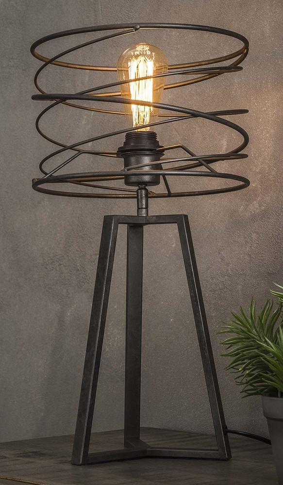 Tafellamp Twister Ø27 van 50 cm hoog – Charcoal   Zaloni