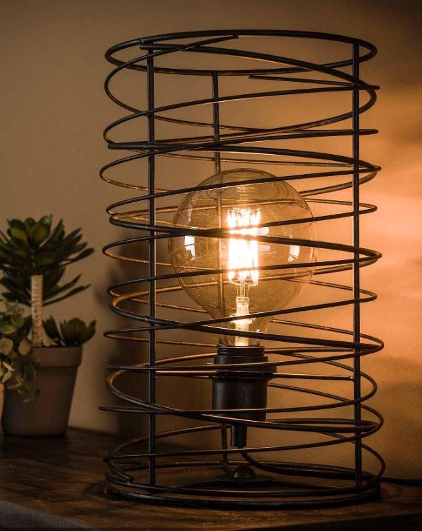 Tafellamp Willy Ø22 van 36 cm hoog in Charcoal | Zaloni