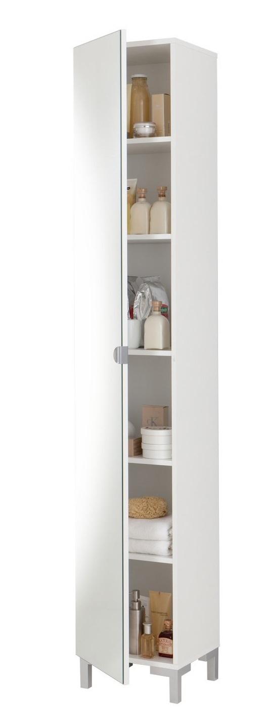 Taragonna Badkamerkast Spiegeldeur 195 cm hoog in wit | FD Furniture