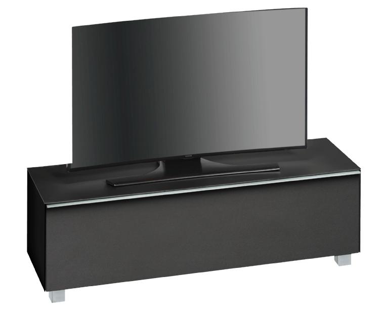 Tv-meubel Fristi 140 cm breed – Zwart   Bermeo