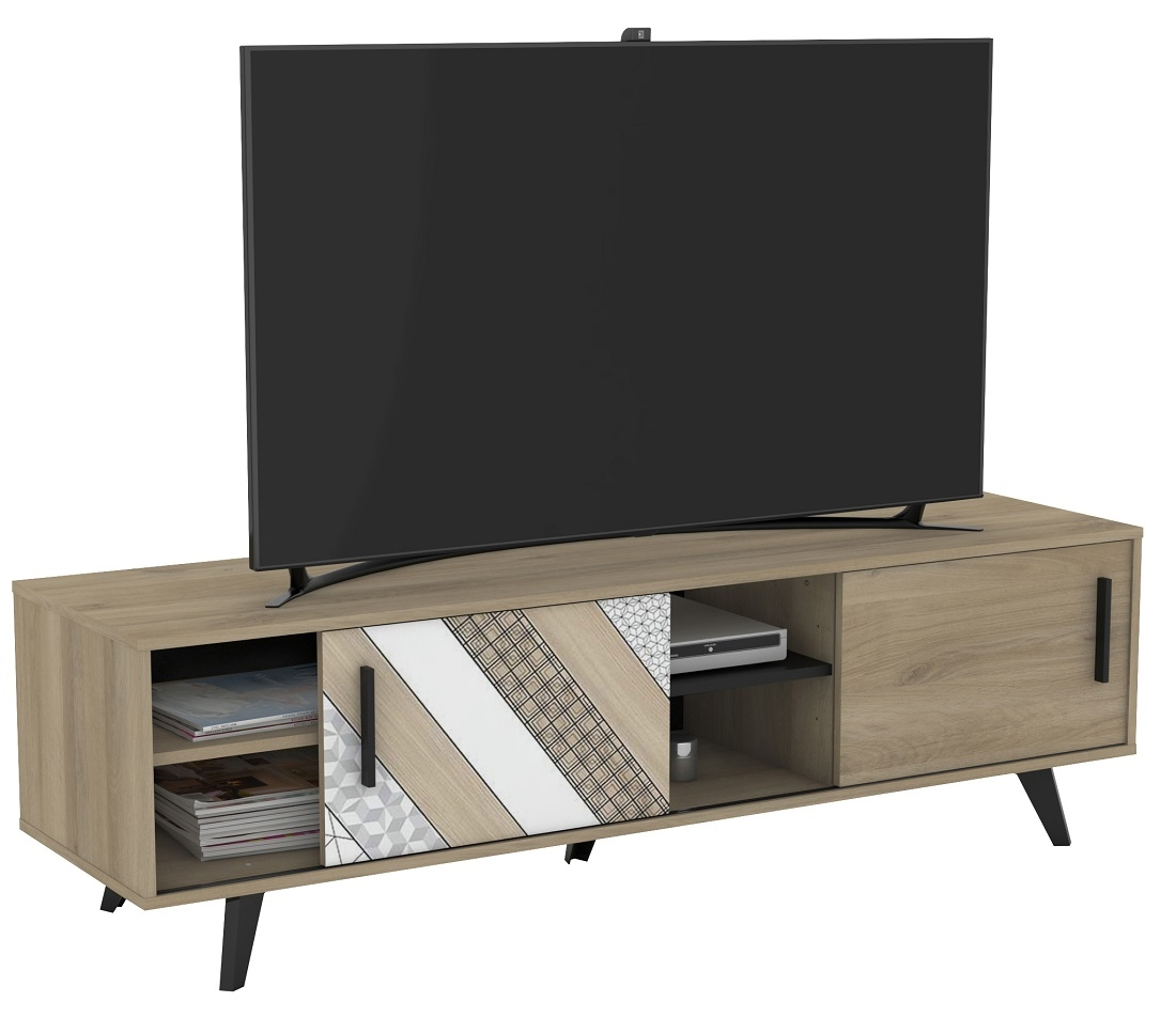 Tv-meubel Helsinki 151 cm breed – Kronberg eiken | Young Furniture