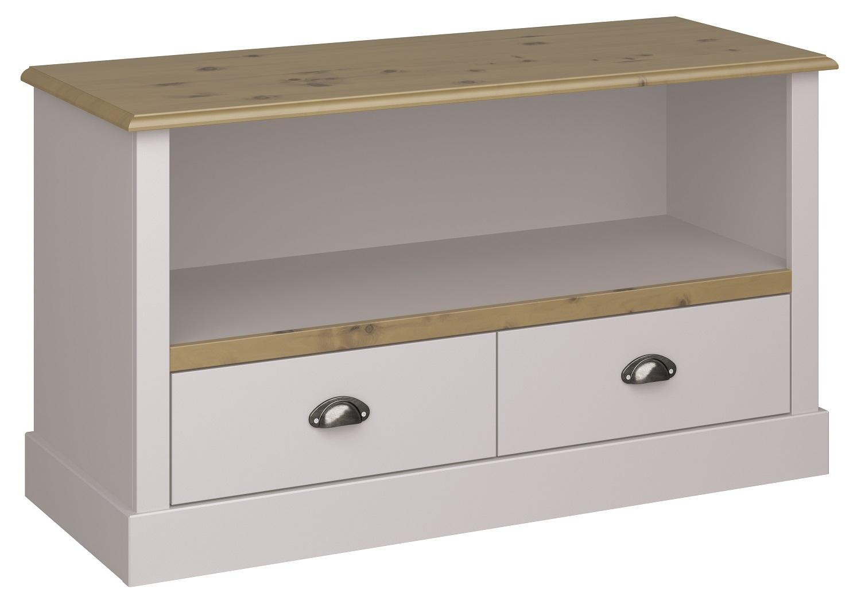 Tv-meubel Sander 100 cm breed in lichtgrijs met eiken | DS Style