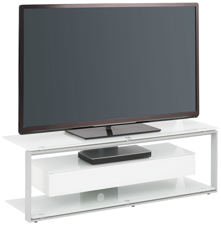 Tv-meubel Yas 130 cm breed – Wit   Bermeo