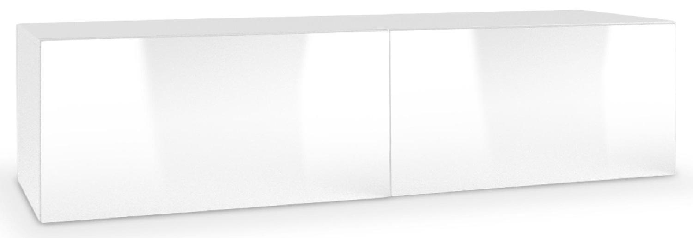Tv-wandmeubel Livo 160 cm breed in wit met hoogglans wit | Home Style