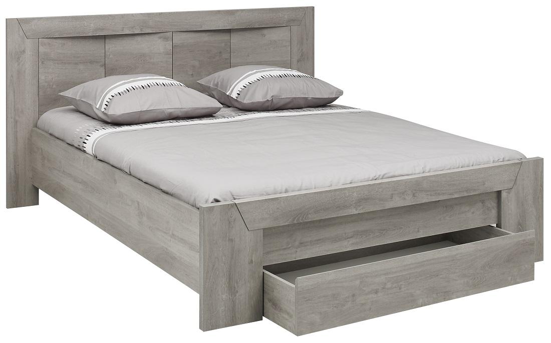 Tweepersoonsbed Eden 140x190cm in grijs eiken | Gamillo Furniture