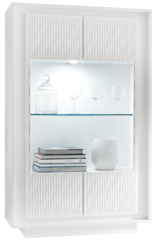 Vitrinekast Malibu 171 cm hoog in wit | Pesaro Mobilia