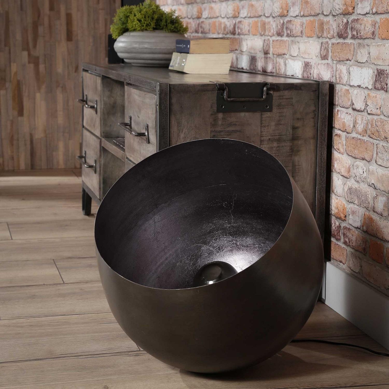 Vloerlamp Basket Ø50 in zwart nikkel | Zaloni
