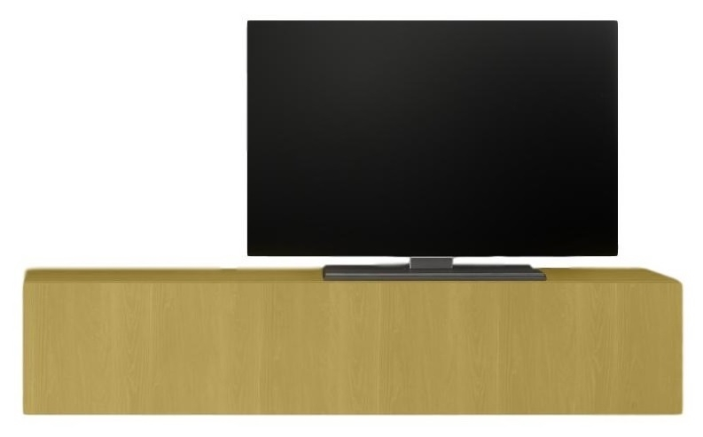 Zwevend Tv-meubel Tesla 138 cm breed in geel | Pesaro Mobilia