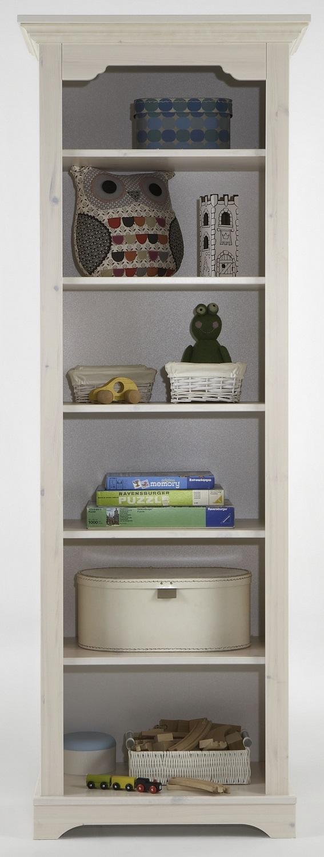 Boekenkast Lotta 202 cm hoog in wit whitewash | DS Style