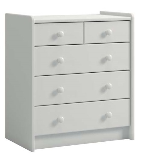 Commode Ladekast Kids 72 cm hoog in wit | DS Style