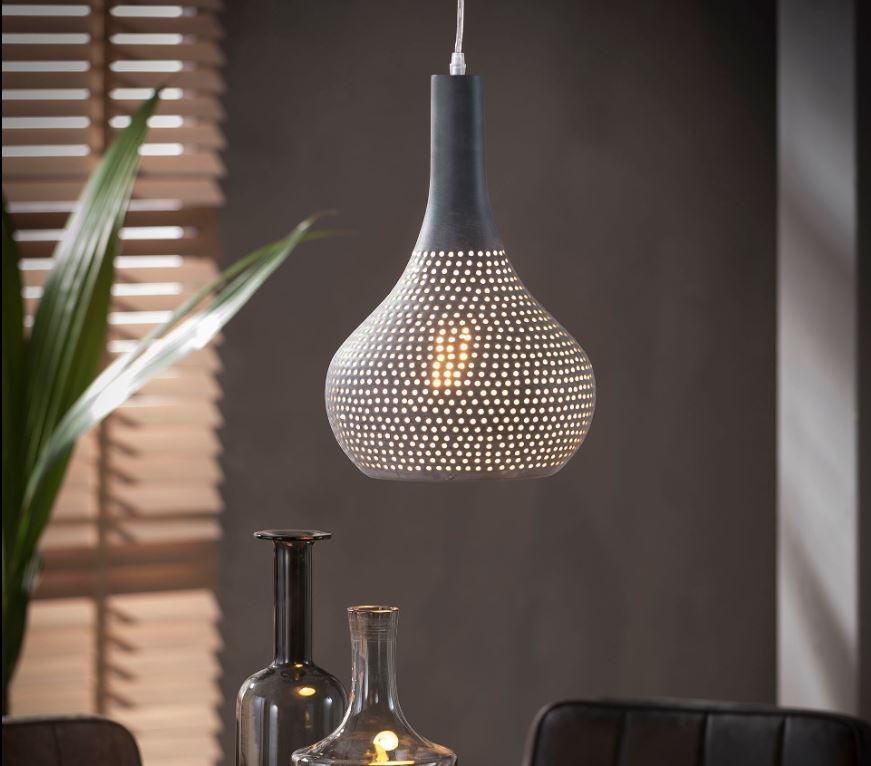 Hanglamp Fee 1LxØ25 in grijs | Zaloni
