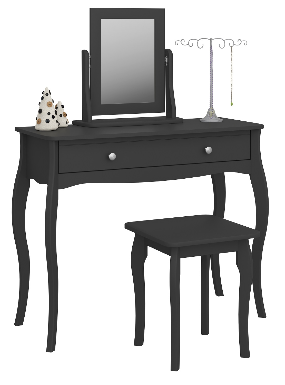 Kaptafel Set Baroque 100 cm breed in zwart met spiegel | DS Style