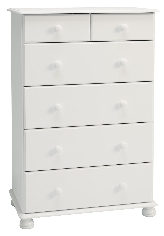 Ladekast Rich 122 cm hoog in wit   DS Style