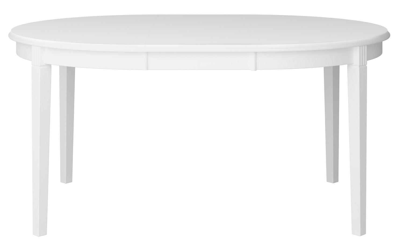 Uitschuifbare ronde eettafel Venice 120 tot 160 cm breed in wit | DS Style