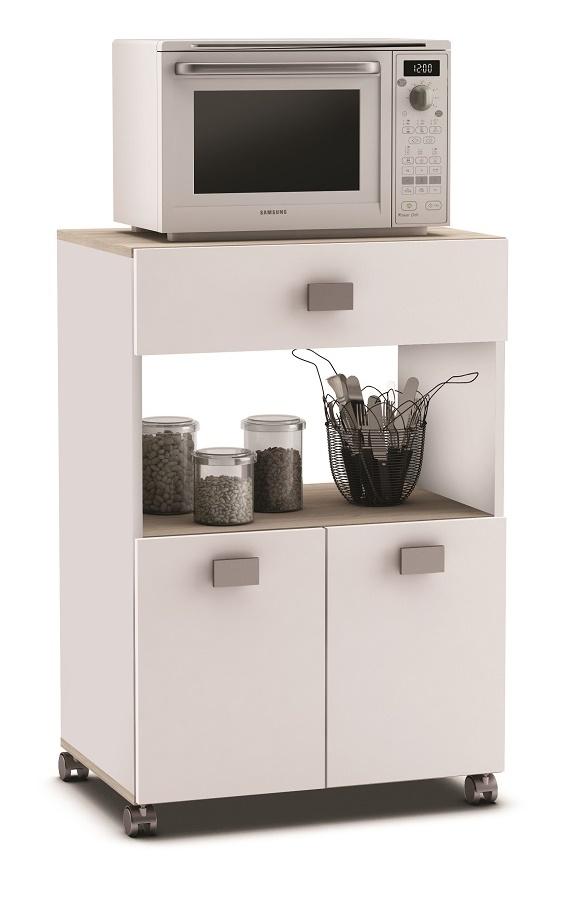 Verrijdbaar keukenkast Roma 90 cm hoog – Wit | Young Furniture