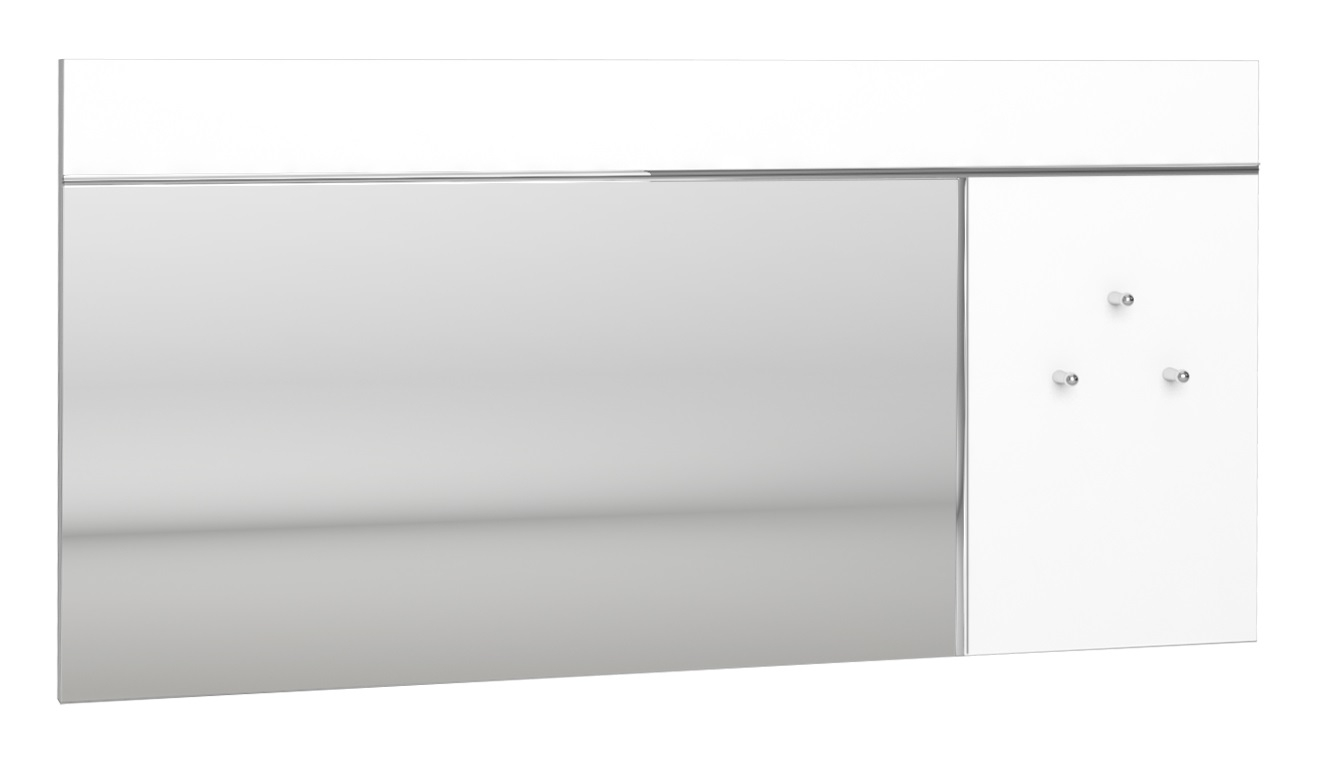 Wandspiegel Lice 120 cm breed in hoogglans wit | Ameubelment