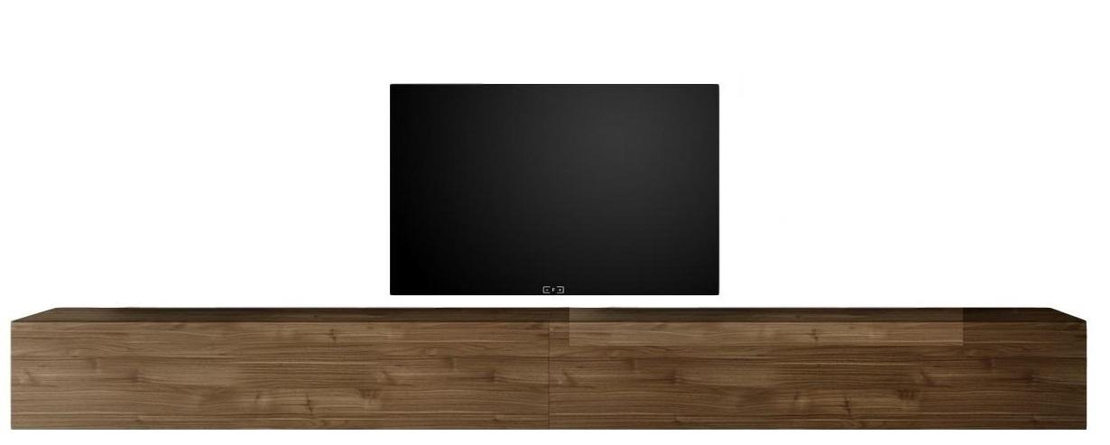 Zwevend Tv-meubel Tesla 276 cm breed in walnoot | Pesaro Mobilia