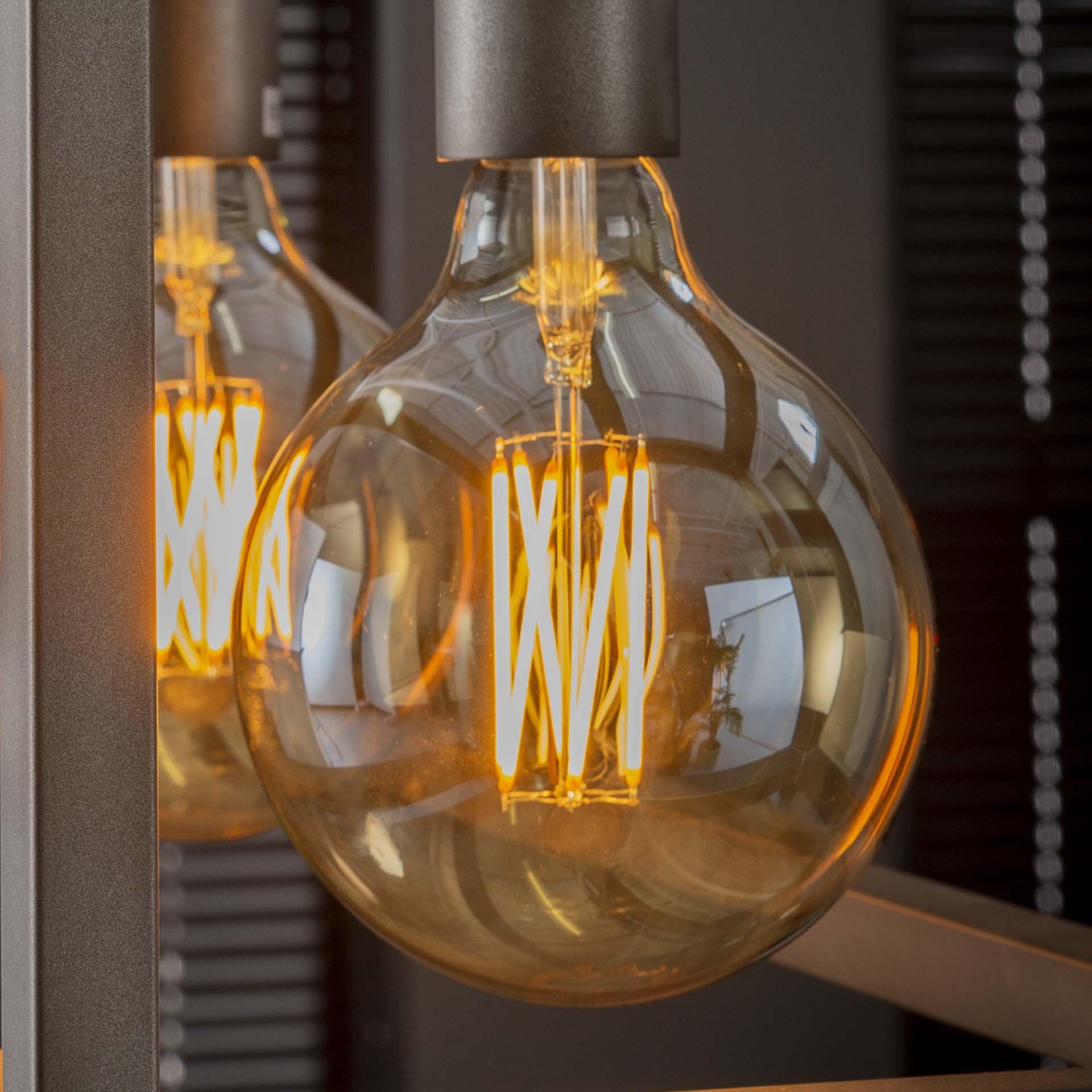 Kooldraadlamp 'Bol XL' E27 LED 6W goldline Ø12,5cm, dimbaar | LifestyleFurn