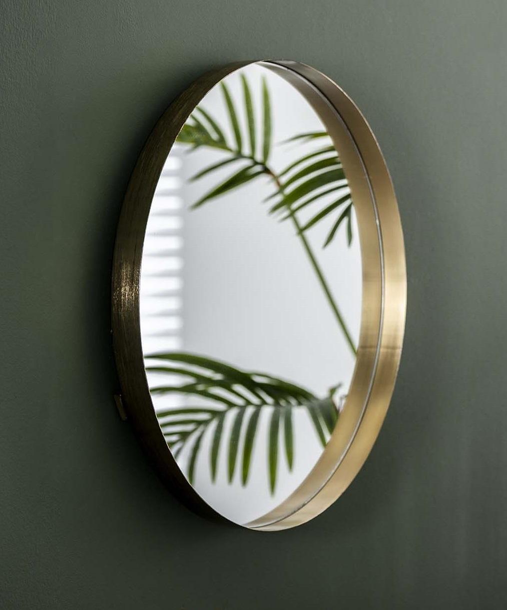 Spiegel Bling 75 cm breed in goud | Zaloni