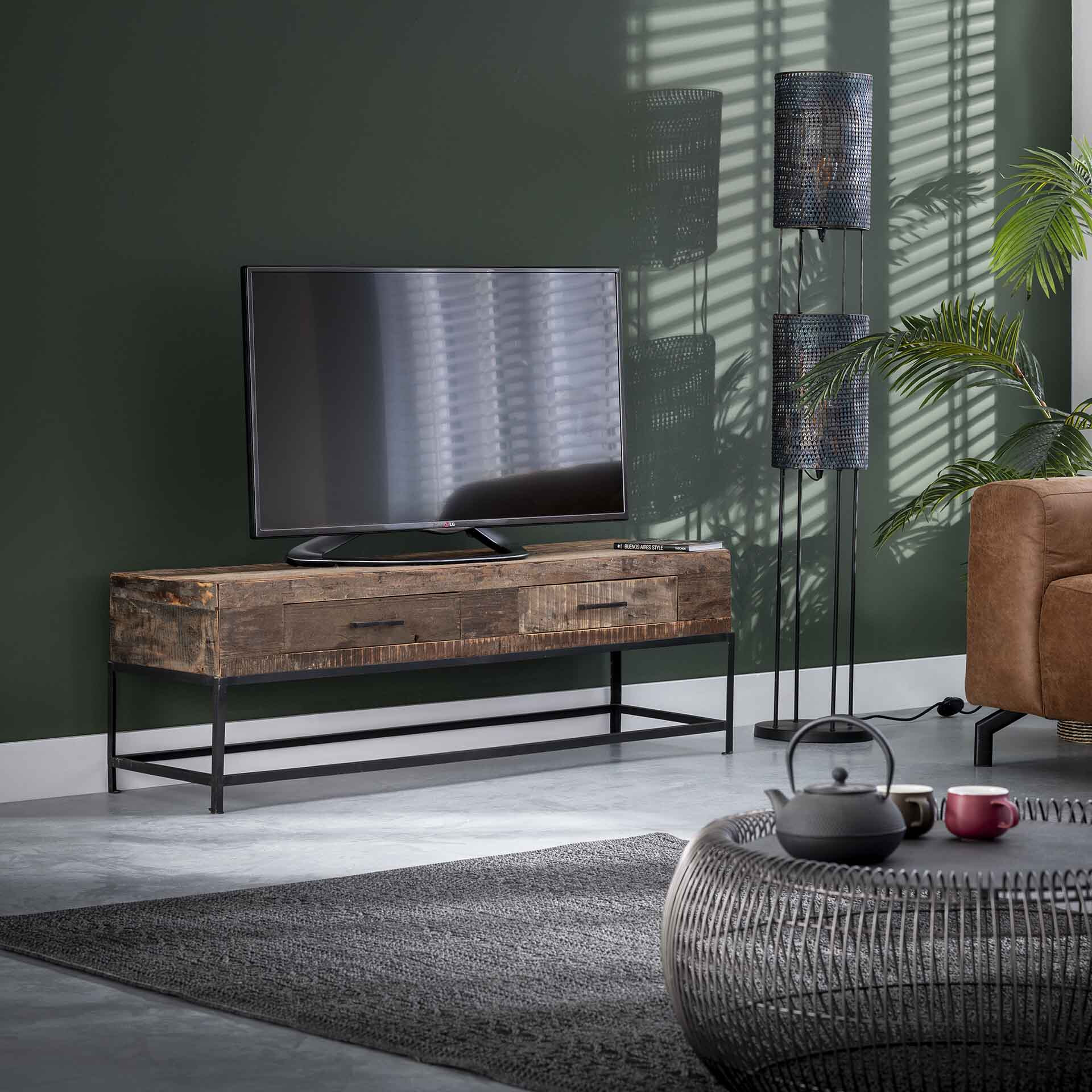 TV-meubel 'Lodge' 135cm, met 2 laden | LifestyleFurn