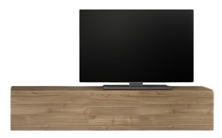 Zwevend Tv-meubel Tesla 138 cm breed in stelvio walnoot | Pesaro Mobilia
