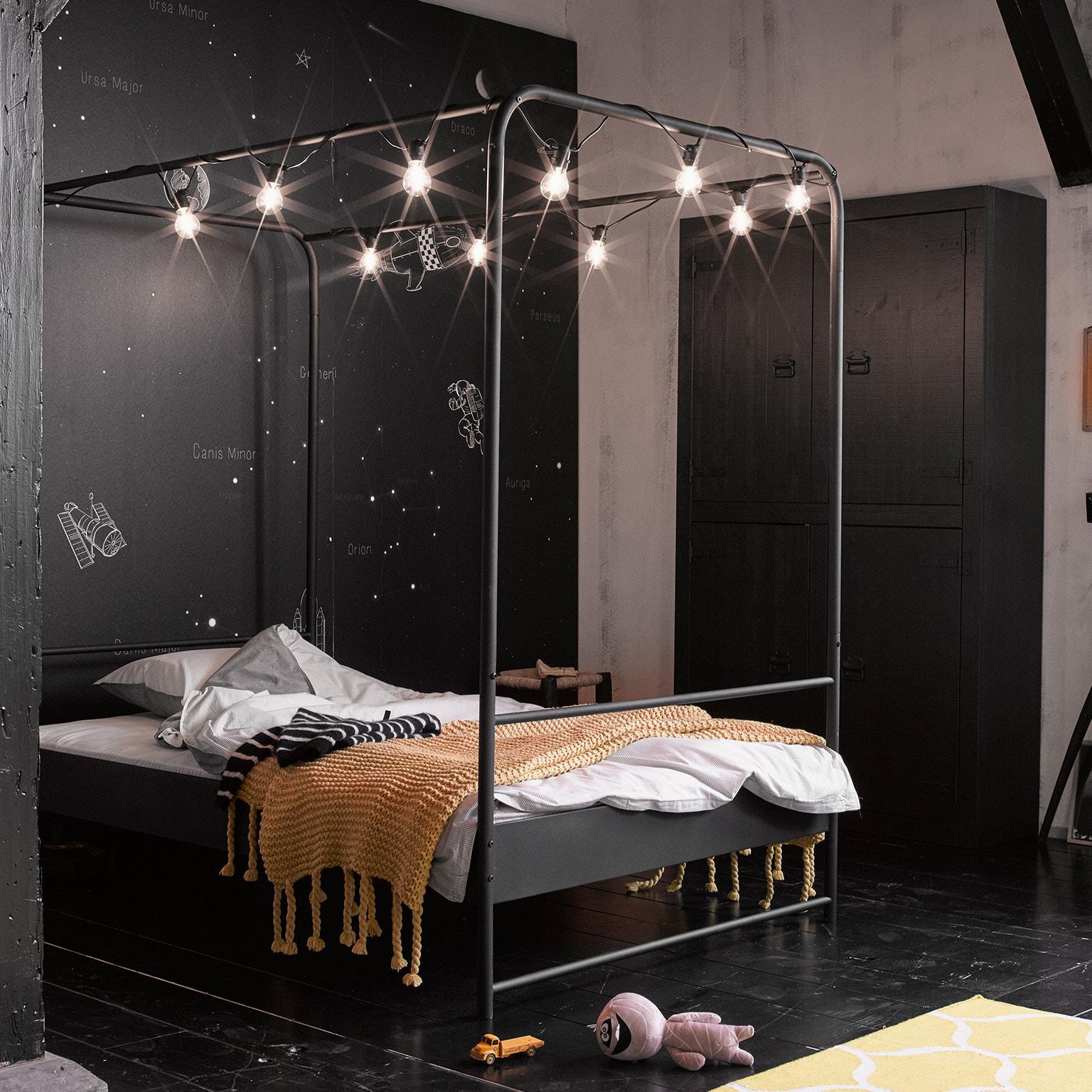 vtwonen Bed 'Bunk' 120 x 200cm, kleur Zwart | vtwonen