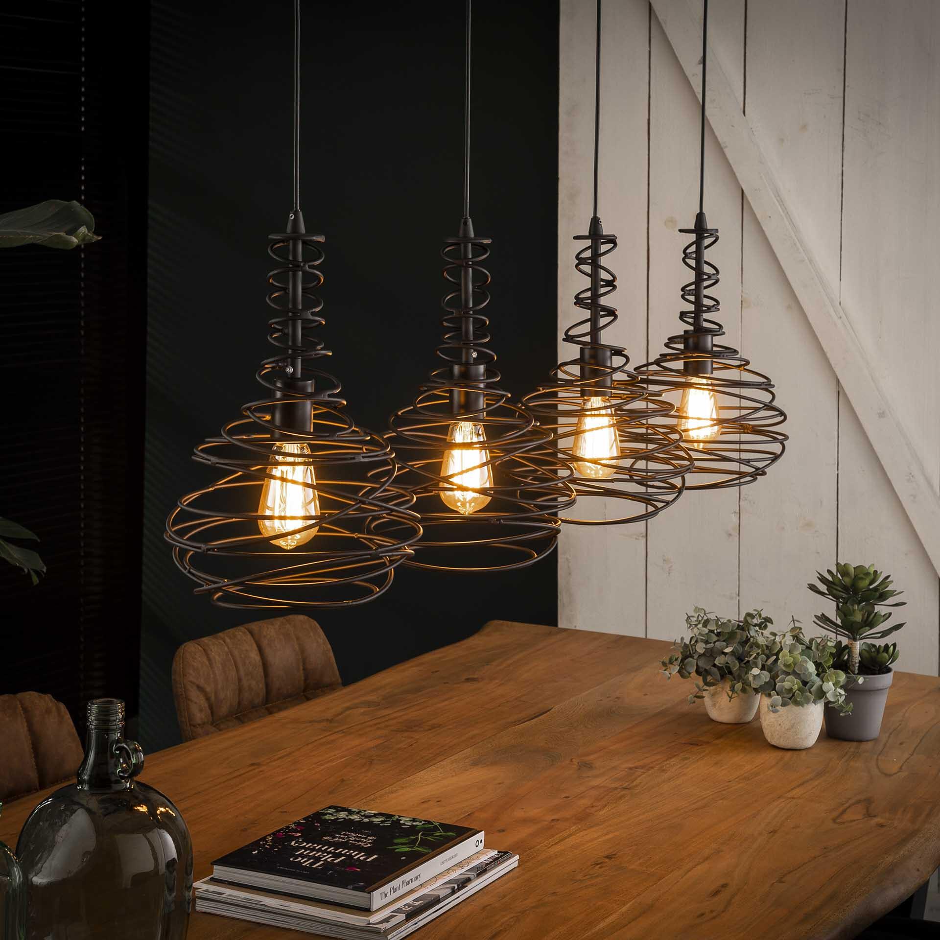 Hanglamp 'Quinten' 4-lamps, Ø25cm   LifestyleFurn