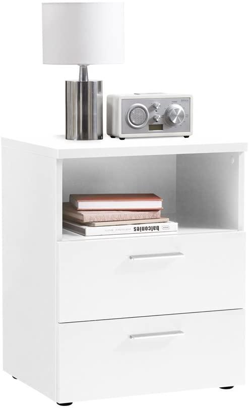 Nachtkastje Colima Big 62 cm hoog in wit | FD Furniture