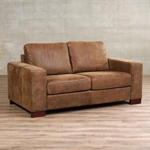Leren bank enjoy 2 zits bruin zits bank bruin leer, bankstel bruine kleur | ShopX