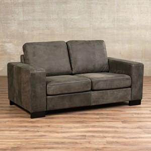 Leren bank enjoy 2 zits grijs zits bank grijs leer, bankstel grijze kleur | ShopX