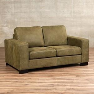 Leren bank enjoy 2 zits groen zits bank groen leer, bankstel groene kleur | ShopX