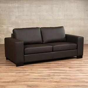 Leren bank enjoy 2.5 zits bruin zits bank bruin leer, bankstel bruine kleur | ShopX