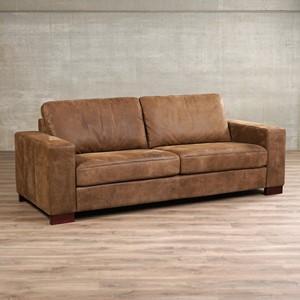 Leren bank enjoy 3 zits bruin zits bank bruin leer, bankstel bruine kleur | ShopX