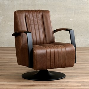 Leren draaifauteuil galaxy bruin, bruin leer, bruine draaistoel | ShopX