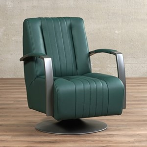 Leren draaifauteuil galaxy groen, groen leer, groene draaistoel | ShopX