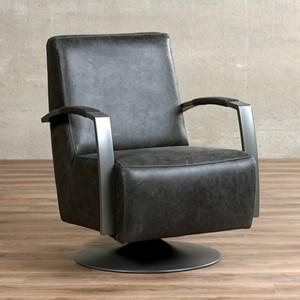 Leren draaifauteuil mood grijs, grijs leer, grijze draaistoel | ShopX