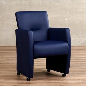 Leren eetkamerfauteuil pleasure blauw, blauw leer, blauwe keukenstoelen   ShopX